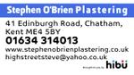Video of Stephen O'Brien Plastering
