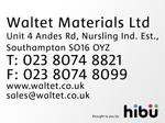 Video of Waltet Materials Ltd